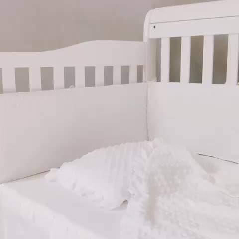 Kids Safe Breathable Crib Bumper Pads for baby white bumper Bedding set