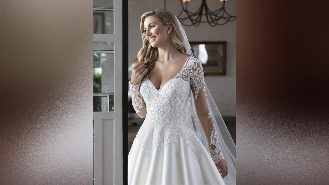 Ball Wedding Gowns Long Sleeve Wedding Dresses 2019 Muslim Bridal Gowns Wedding Dress White Africa Bridal Dress A256