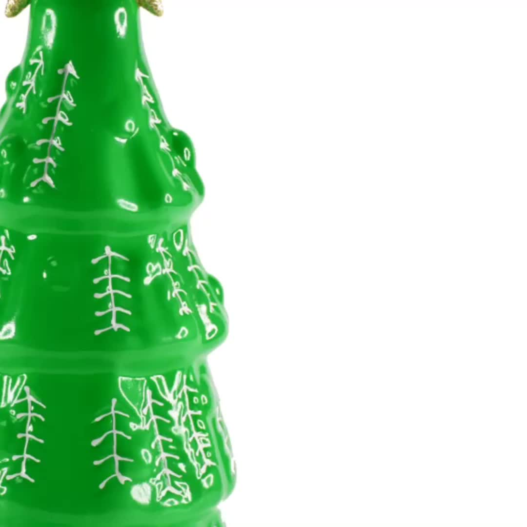 Hot Sale Factory Price Custom green color led spinning christmas tree light