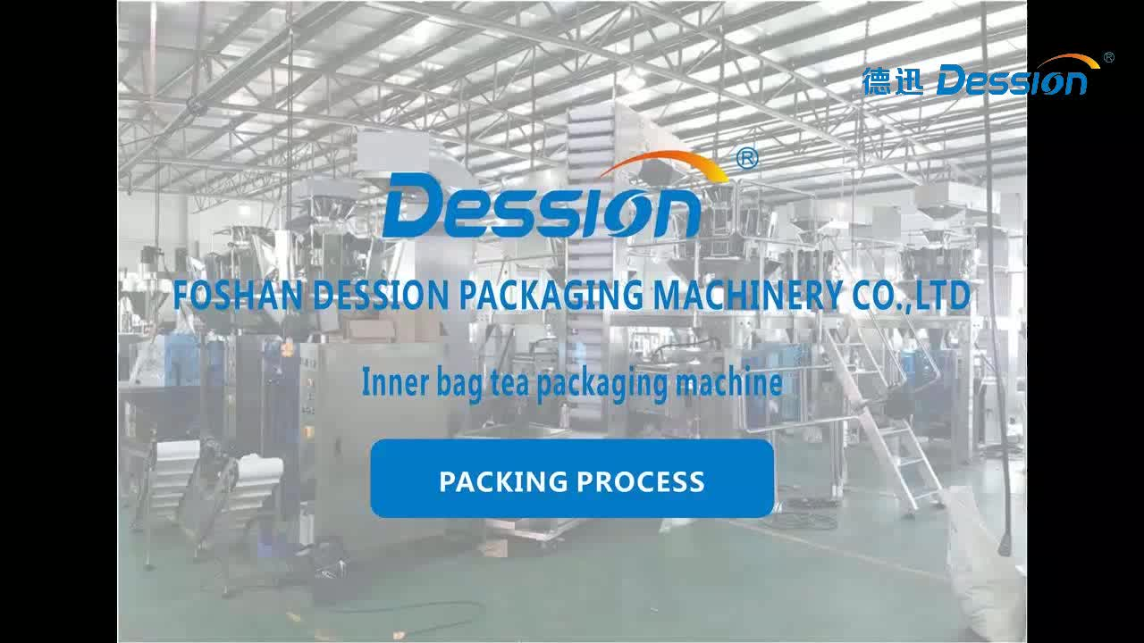 DESSION Automatic Tea Bag  Filter Paper Packing Machine with thread and tag , nylon triangle tea machine Golden supplier