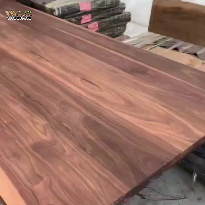 customized iron wood industrial style walnut wood dining table /wide plank usa walnut wood table