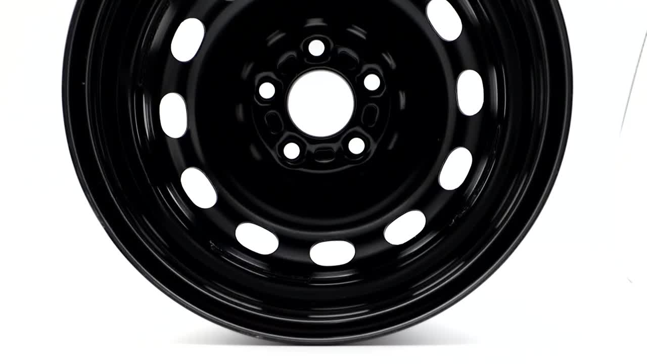 Wheelsky 725702 popular 17 inch 5x1143 black E-coating steel car spare wheel rims
