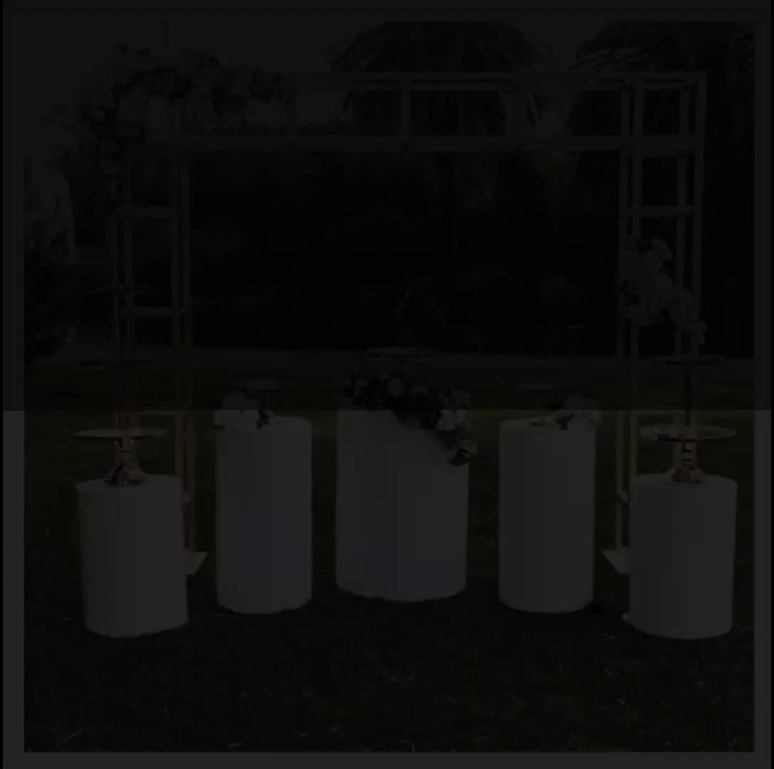 NAXILAI Custom אובניים מסד עגול אקריליק חם מכירות אקריליק צילינדר תצוגת עומד ואקריליק פרח stand חתונה
