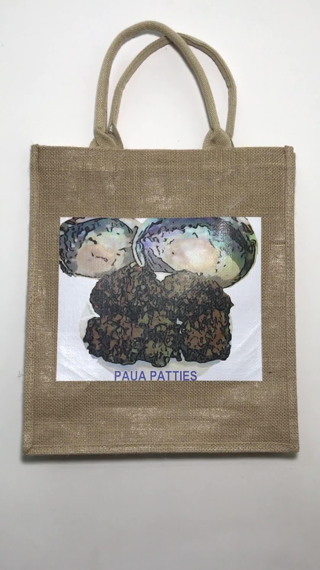 Customized Logo Jute Tote Bag shopping bag with custom logo recycle bag