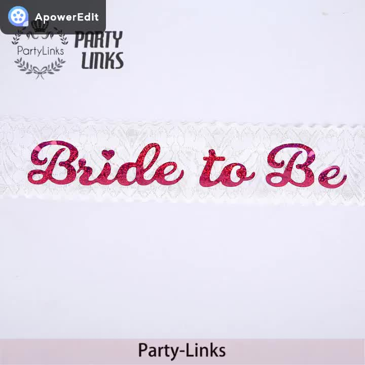 White Party Sash, Bride To Be Lace Sash With Bachelorette Party