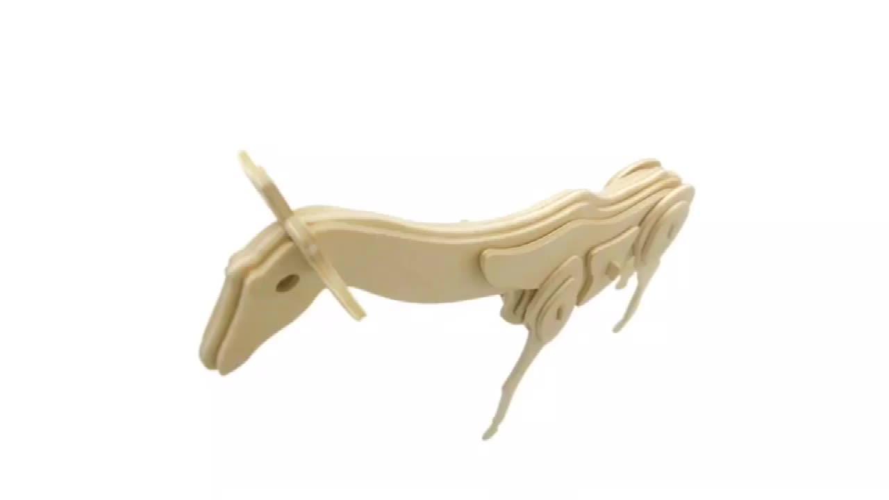 Christmas Deer 3D Puzzle Children Educational Wooden Toys