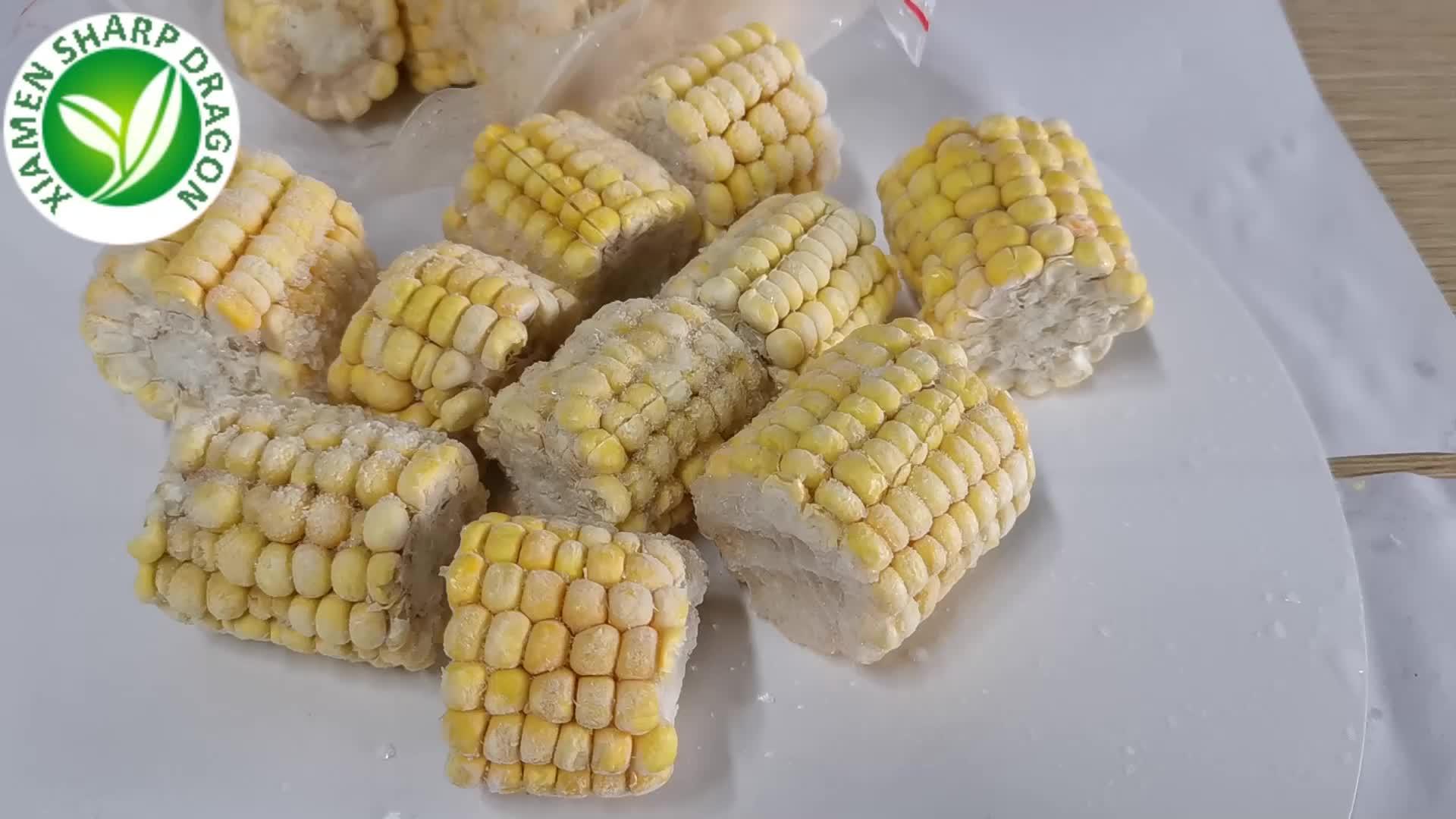 Iqf gefrorene gedämpfte organische masse mais