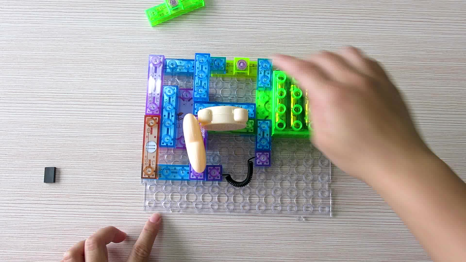 DIY electric block stem toys educational with sound
