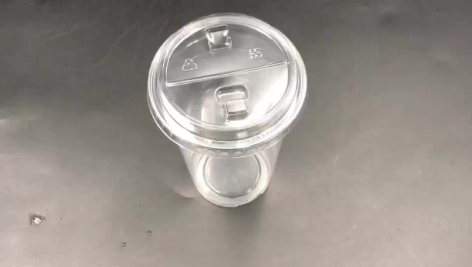 Customized Clear Disposable Plastic Coffee Hot Drinking Leakproof Injection PP Cup700ml with Lid