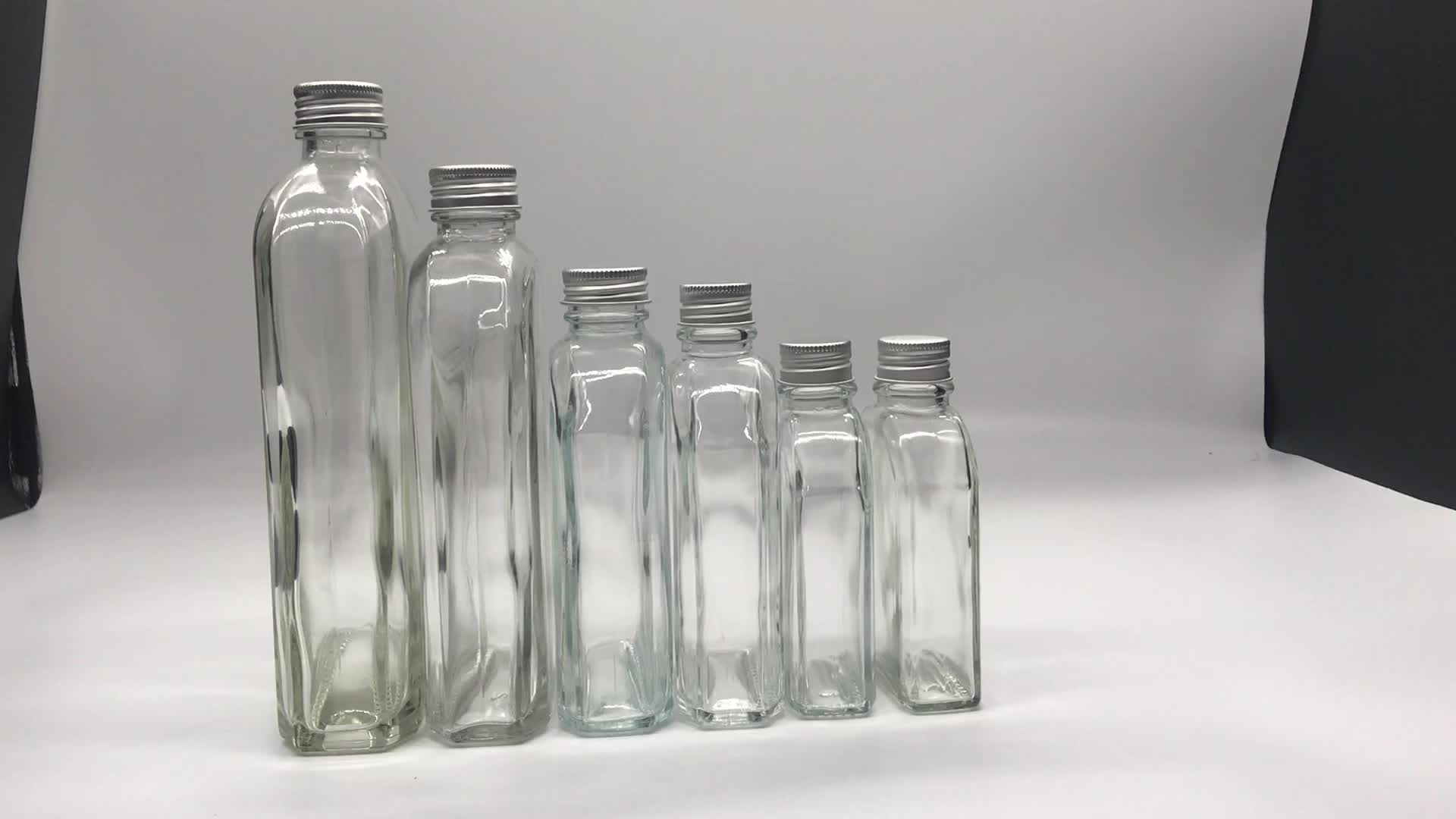 Kreatif 100Ml/200Ml/250Ml/350Ml Bir Dingin Kopi Kaca Botol Kaca Susu Teh minuman Jus untuk Jus dengan Aluminium Tutup