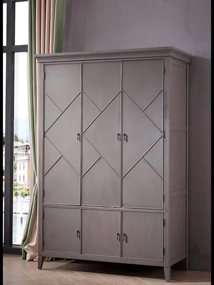 Nuevo diseño de armario de madera con 2 cajones armario