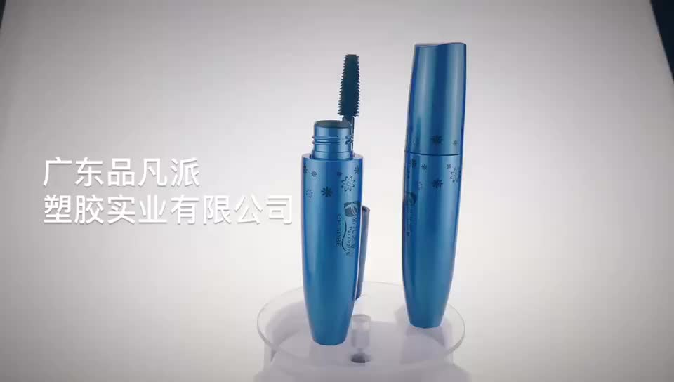 Custom refilling bottle blue empty mascara tubes with brushes