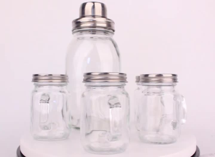 cheap square small glass jars 120ml 4oz glass spice pepper jars with handle