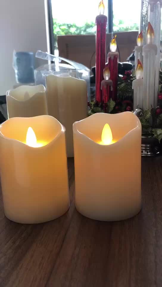 Paraffin Wax Material and Flameless Feature moving wick flameless candle