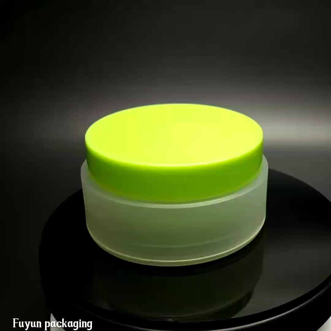 Fuyun  100g Frosted Matt White Double Wall Plastic PP Jars