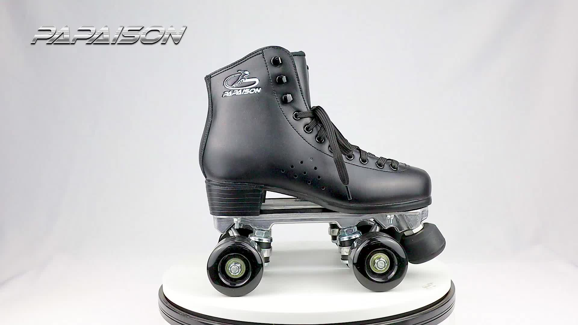 Couro superior do DIODO EMISSOR de luz para cima PU rodas profissionais patins quad para o interior aluguer de pista de patinação