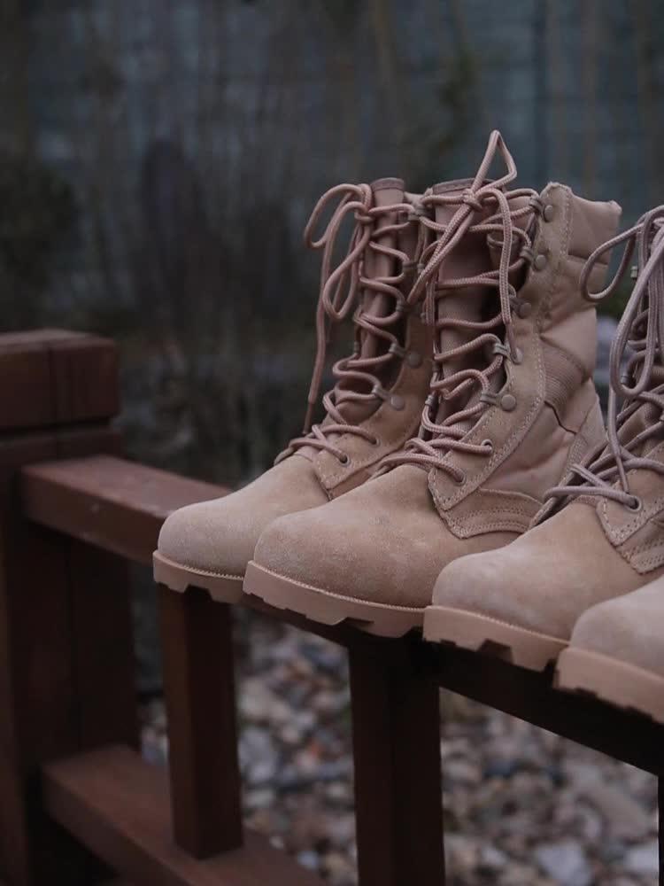 """גומי Outsole חומר צבא ציד Camo נעלי צבאי אתחול חי""""ר לחימה טקטי משטרת מגפיים"""