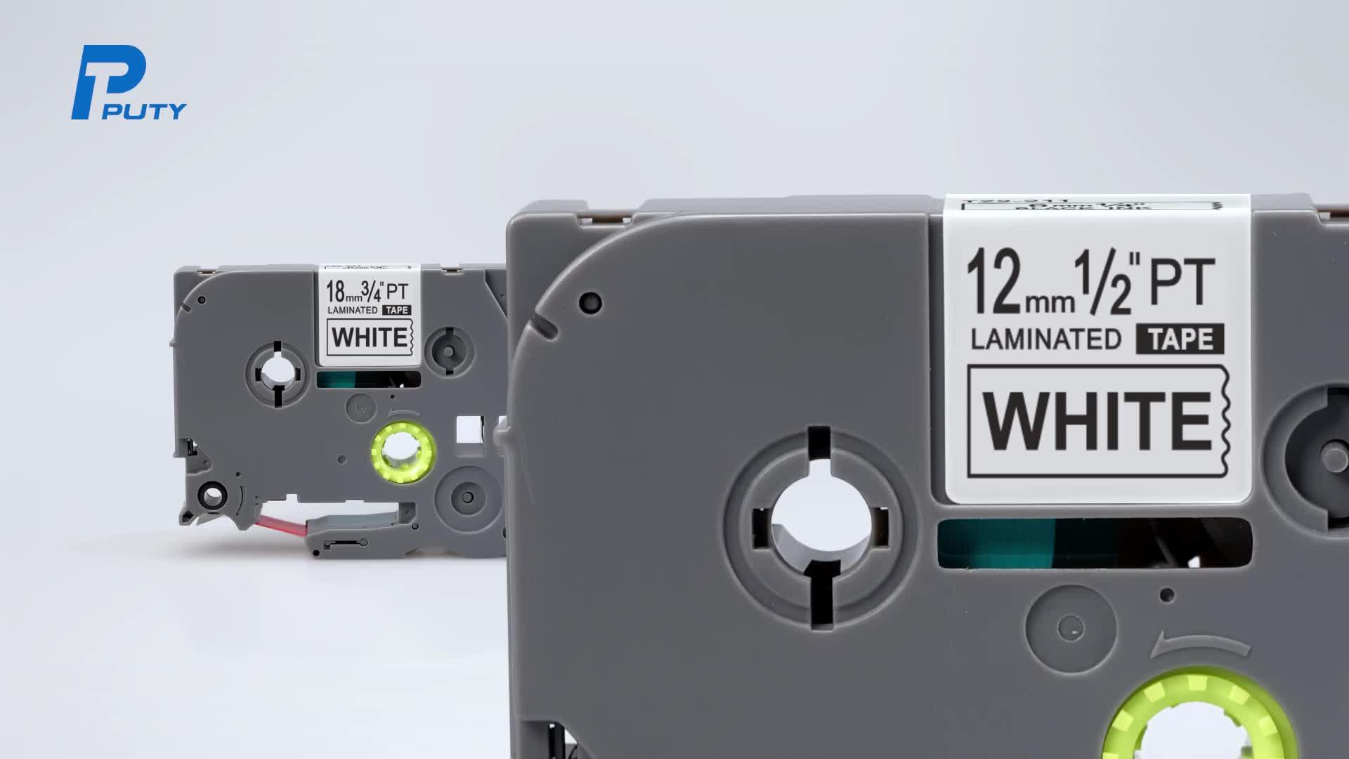 PUTY ज़े 121 पर 9mm काले स्पष्ट निविड़ अंधकार तेल सबूत मजबूत चिपकने वाला लेबल टेप के लिए p-टच प्रिंटर tze121 टेप