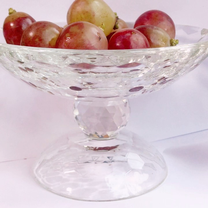 Small exquisite Decoration crystal glass fruit plate snack dish