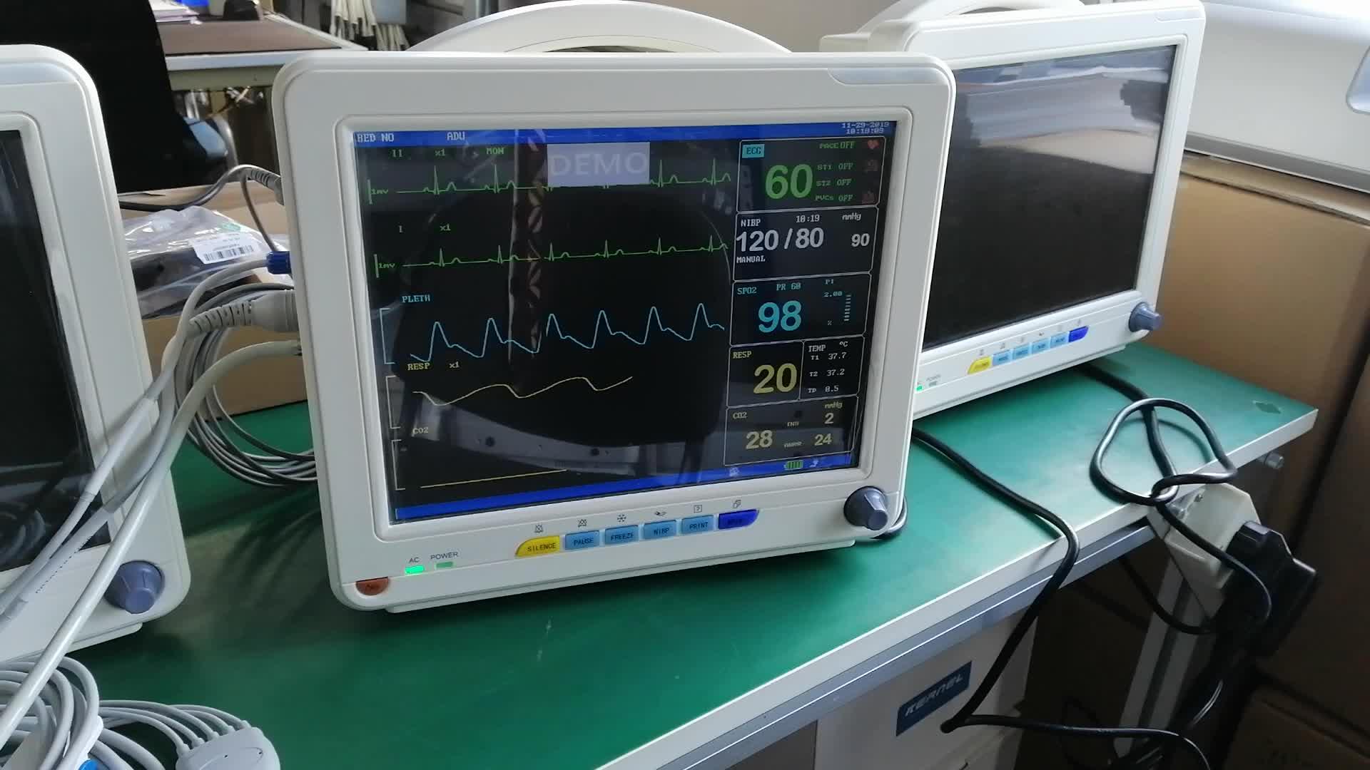 Ekg makinesi/hasta monitörü/tıbbi ekipman hastane için çin'den çekirdeği KN-601