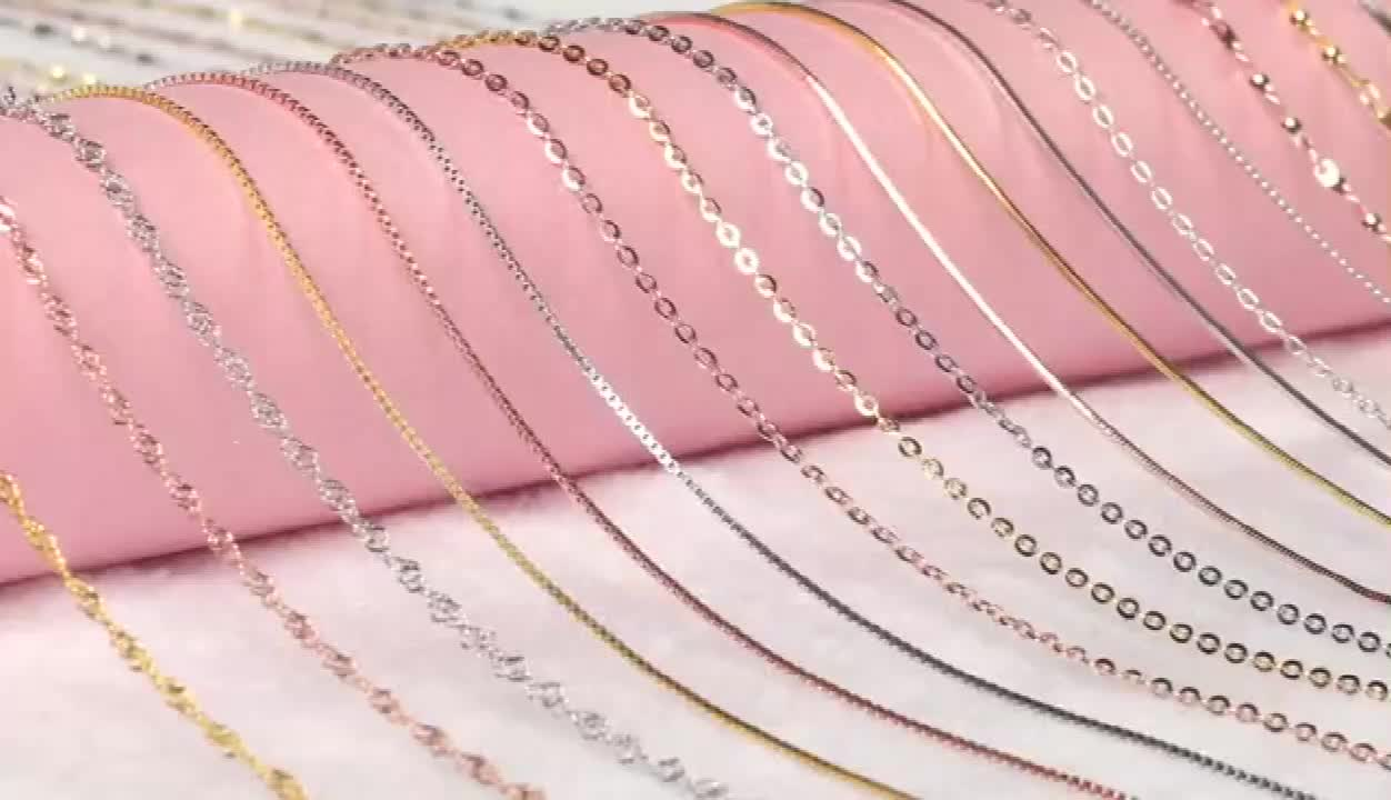 Wholesale Fashion Jewelry 16-18-24 inch Snake Chain 925 Sterling Silver Chain Necklace Chain