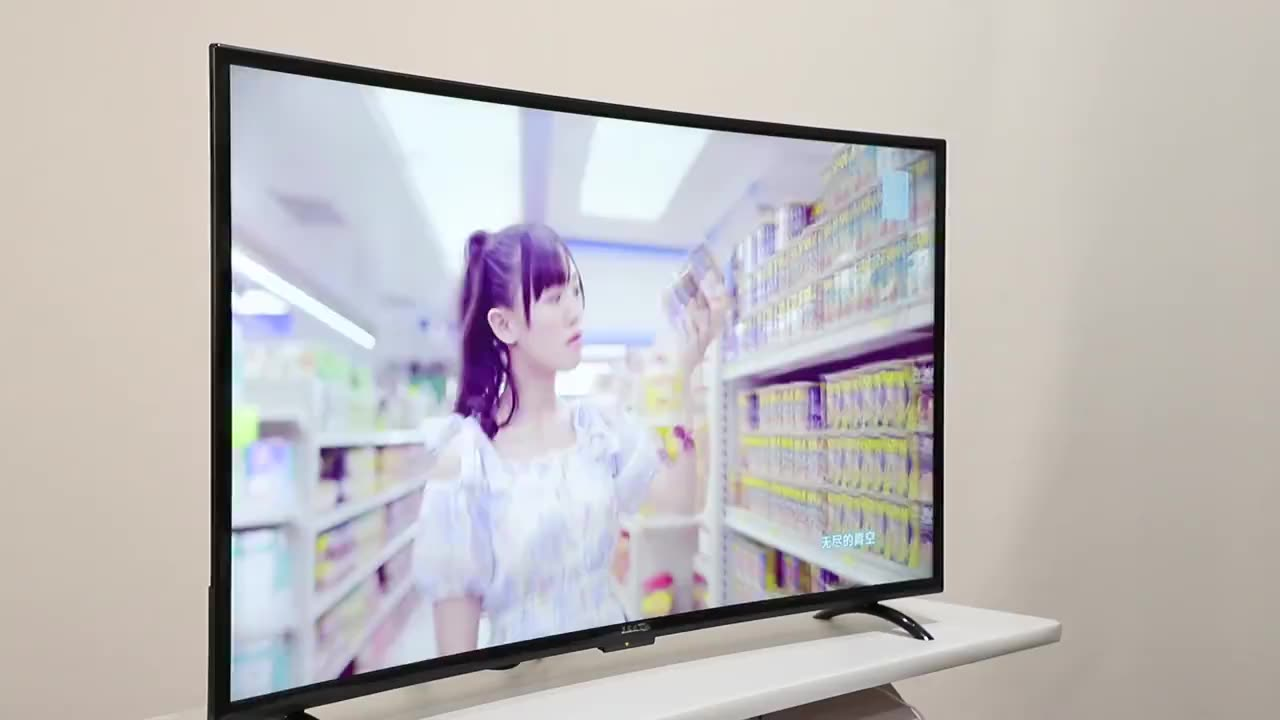 55 inch curved led tv  hd television smart  led tv