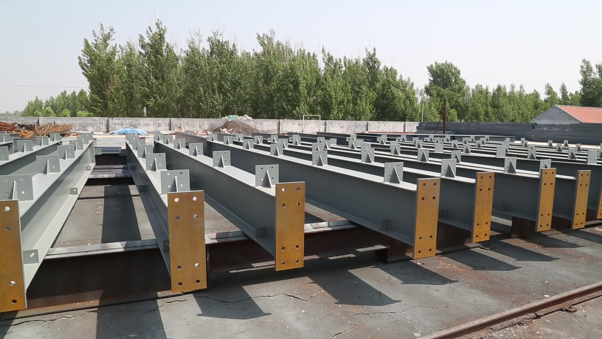 Yüksek Kaliteli Prefabrik Çelik Yapı Ev Endüstriyel Çelik prefabrik yapı