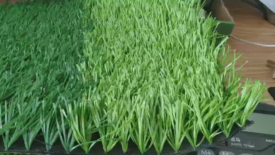 2019 New product PE Material bi colors CE standard synthetic grass for outdoor carpet