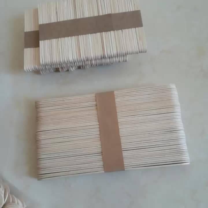 Wholesale small mini round waxing wooden thin honey food ice cream applicator stirrers sticks for coffee