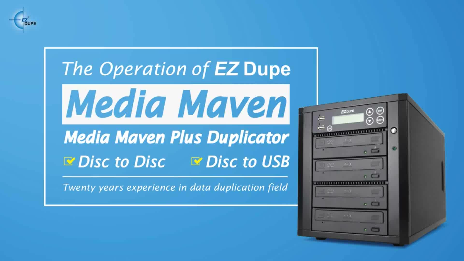 EZ Dupe Media Maven Series Duplicator with USB copy to BD CD DVD Duplicator