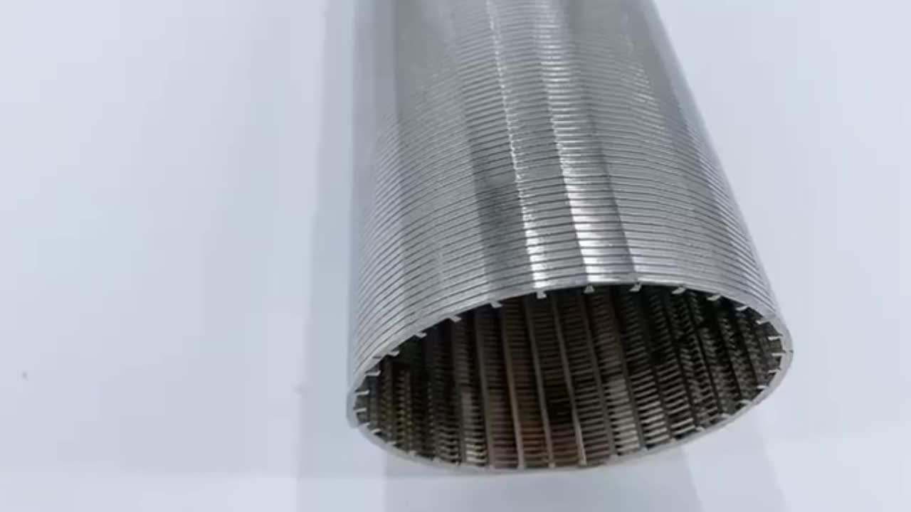 Wedge V Slotted Wire Stainless steel 316 Sieve Cylinder Johnson screen filter with high quality