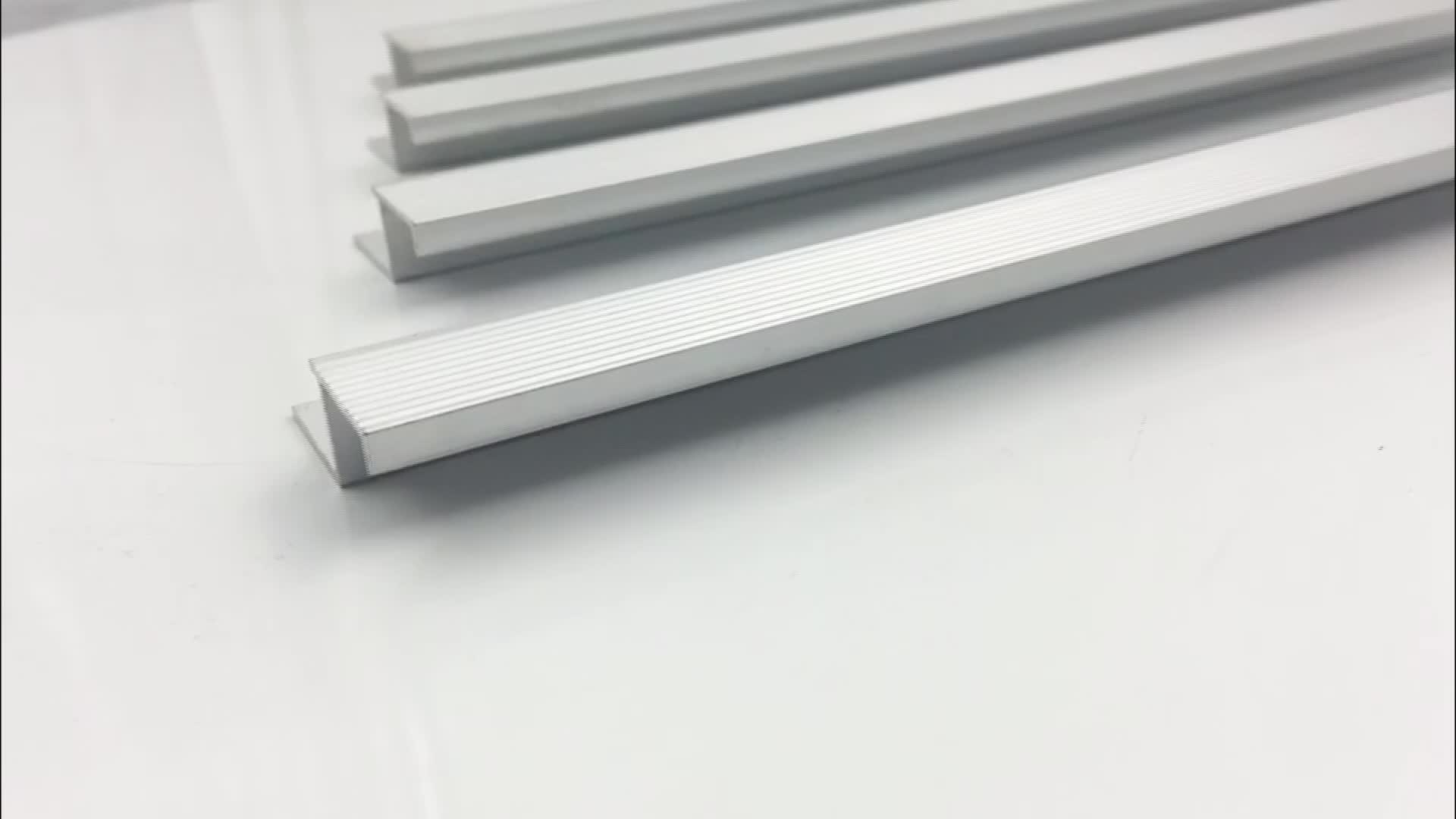 aluminum anodized matt silver profile ceramic tile stair nosing