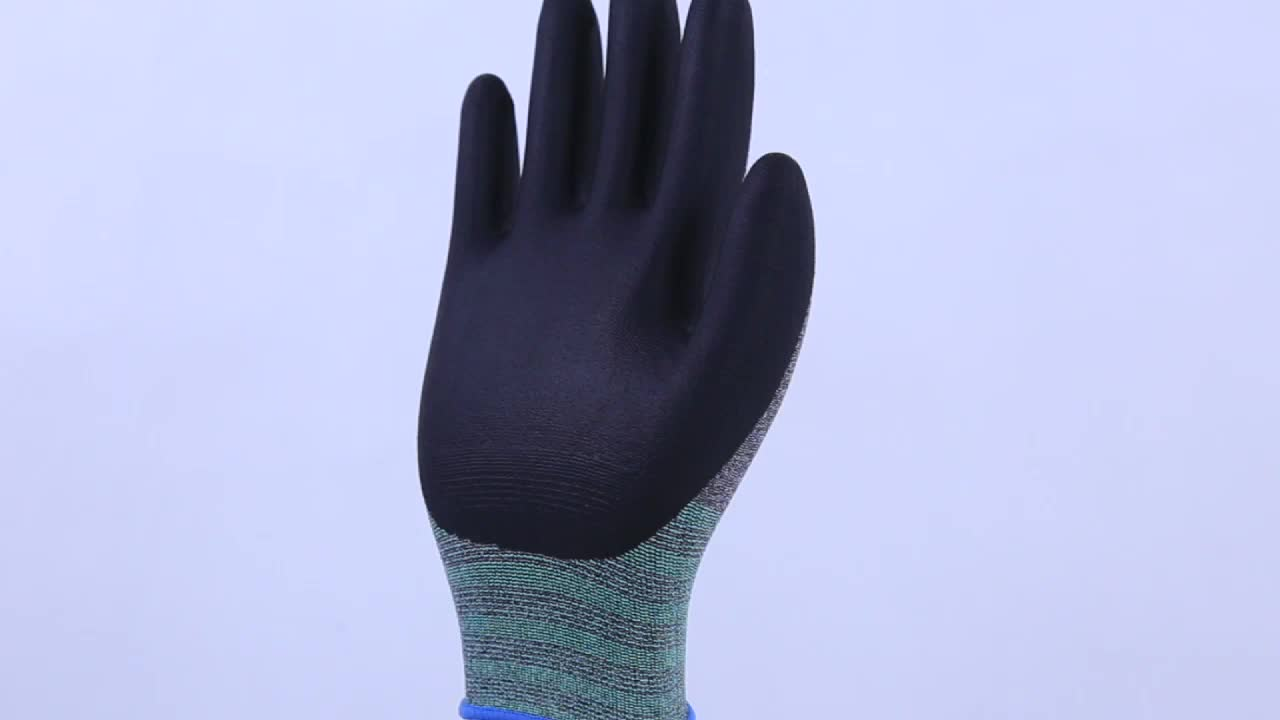 Xingyu Nylon Spandex Microfine Foam Nitrile Coated Gloves Work Safety