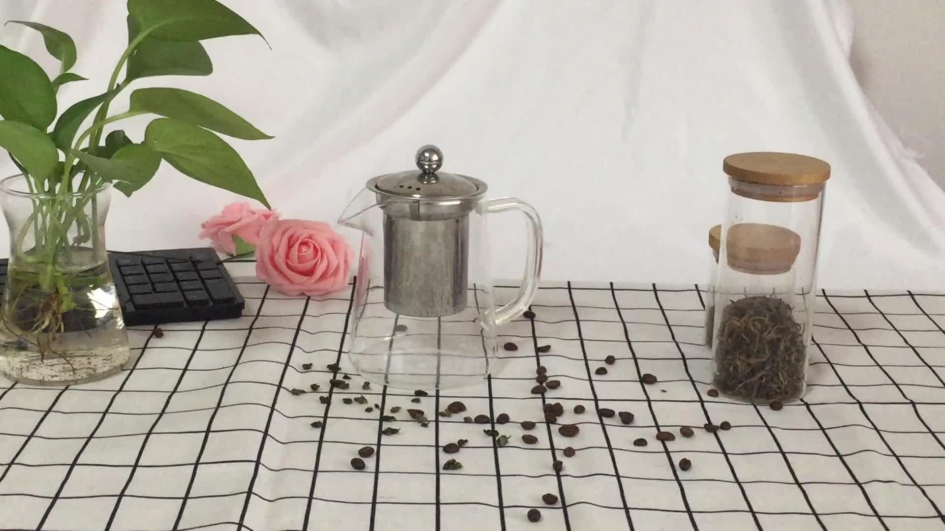 500 ml de vidrio de borosilicato tetera con Infusor de café té