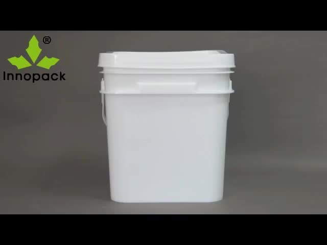 20L rectangular bucket nails bucket PP plastic pail custom plastic container with plastic handle
