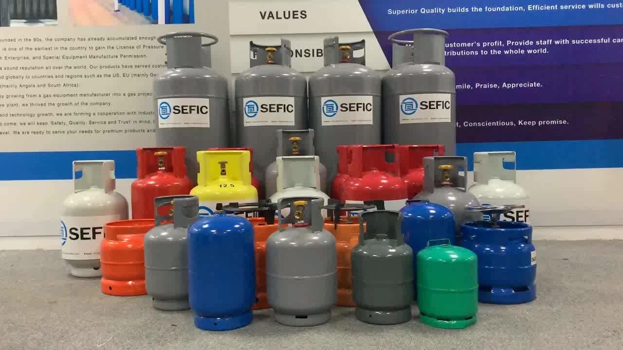 Kualitas Tinggi 2-50KG Kosong Gas LPG Silinder Harga Filling dengan Valve