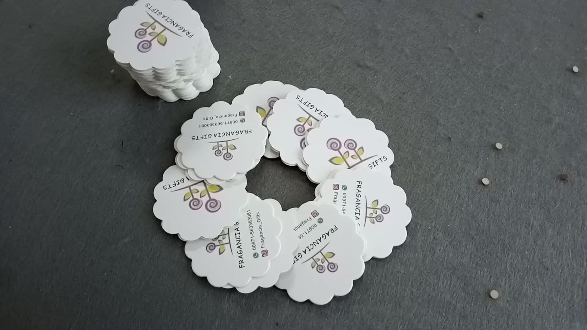 Design de moda do cliente marcas tag do cair redondo feito sob encomenda etiqueta tag do cair