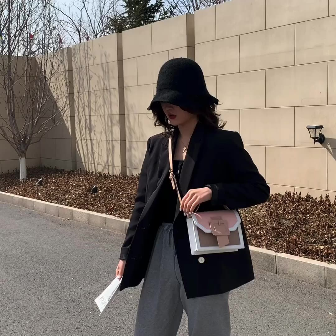 Panelled Women Designer Ins Trendy Handle Purse Messenger Lady Transparent Flap Shoulder Bag Clear Crossbody Bag Korean 2020 New