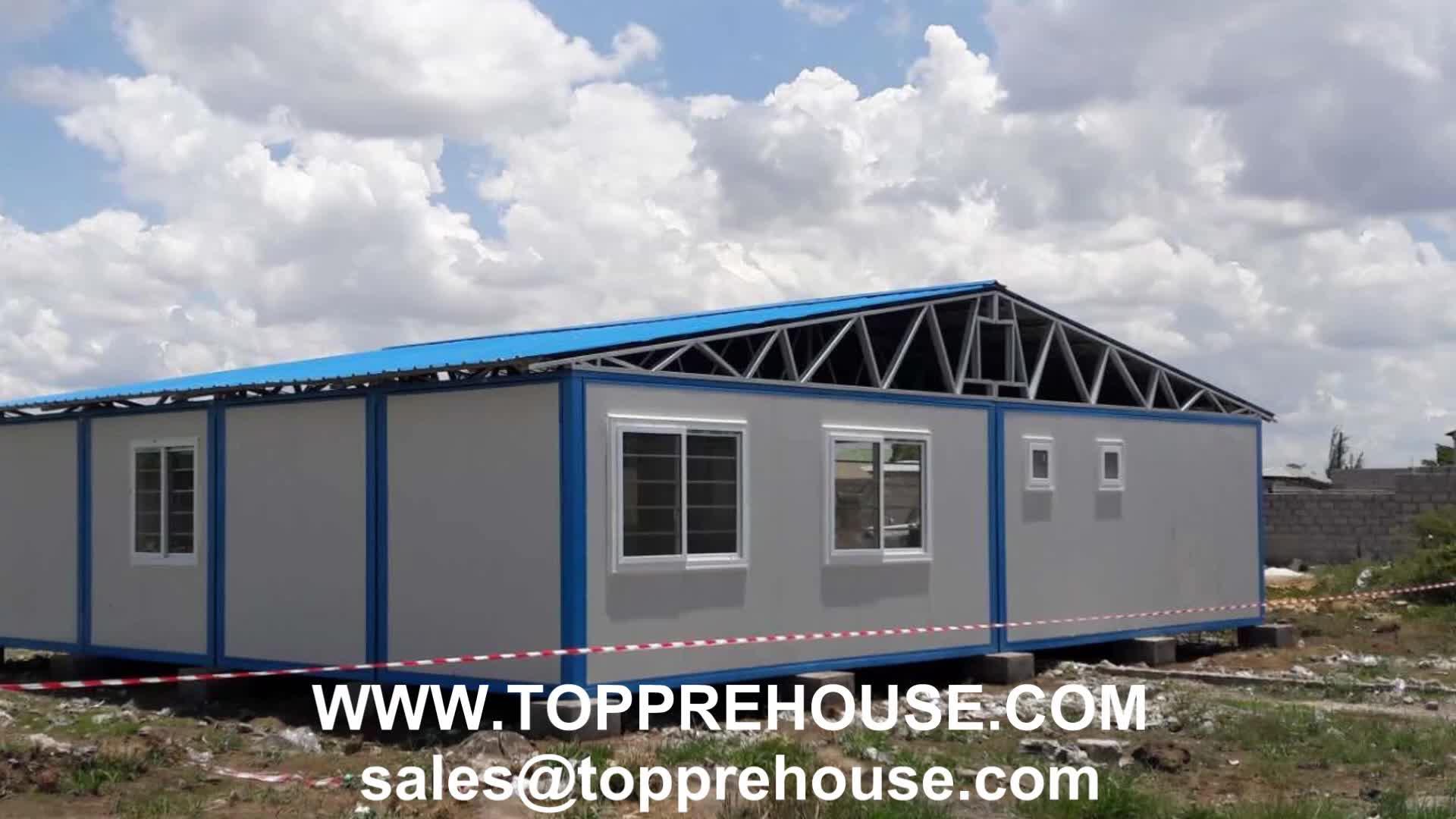 Prefab บ้านบ้านสำเร็จรูป 20 ฟุตสำนักงานคอนเทนเนอร์มาเลเซียมือถือ trailer โครงสร้าง prefab บ้านบ้านคาราวาน