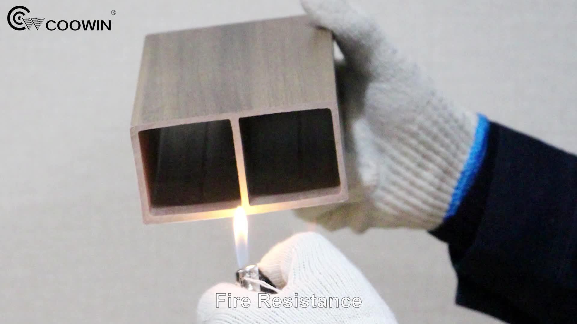 تصدير Coowin 100 نوع من سطح اللون للاختيار من بين أنبوب خشبي داخلي Pvc