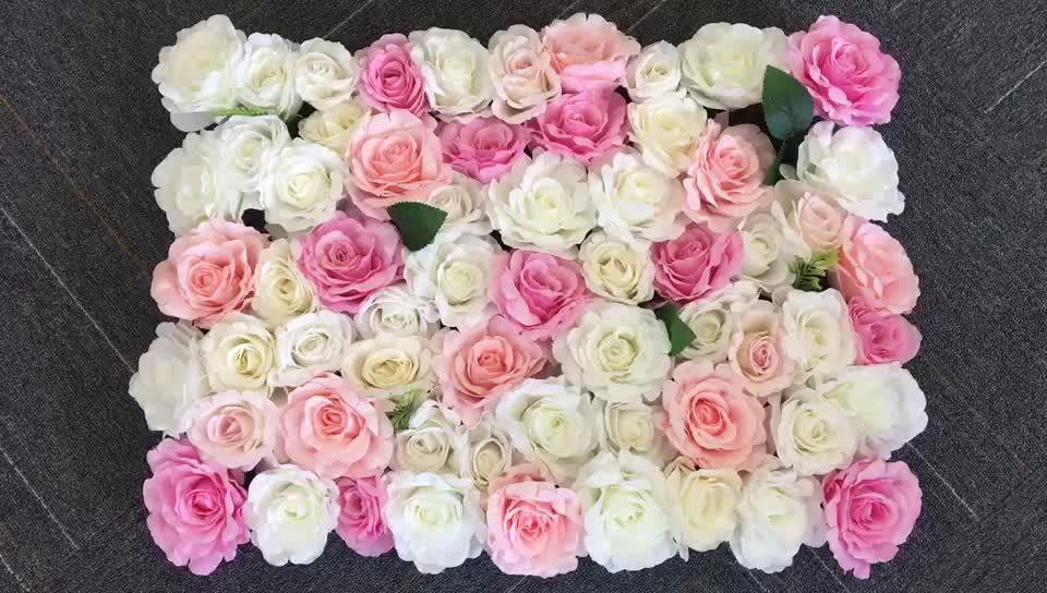 Seda rosa decoração do partido role acima o cenário de casamento decoração pano artificial rose flor adesivos de parede parede flores artificiais hortênsia