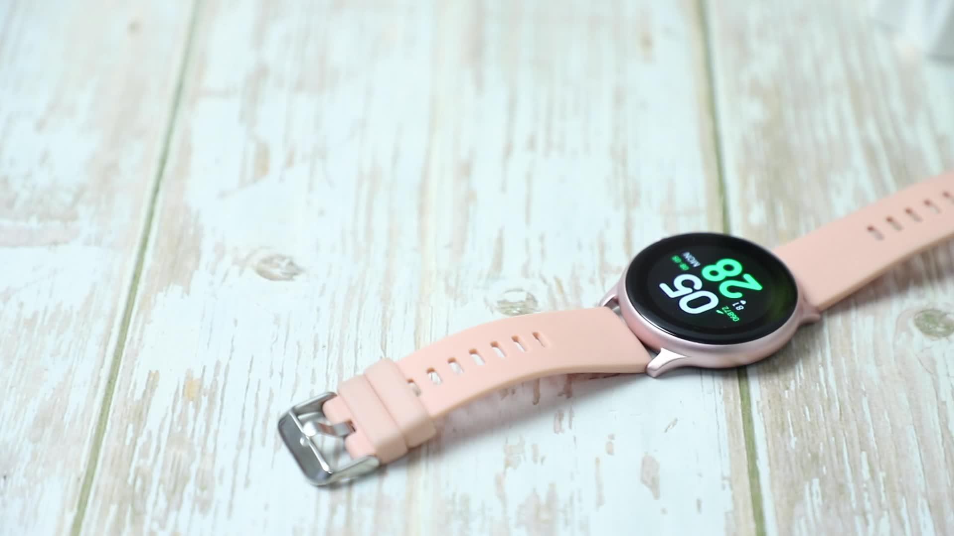 2020 new arrivals women beauty หน้าจอสัมผัส AMOLED display นาฬิกาข้อมือ 7 วันต่อ charge