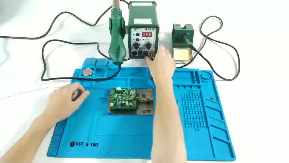BST-878D Automatic Electronics Repair Phone Soldering Desoldering Station Hot Air Blower Digital Heat Gun SMD Rework Station