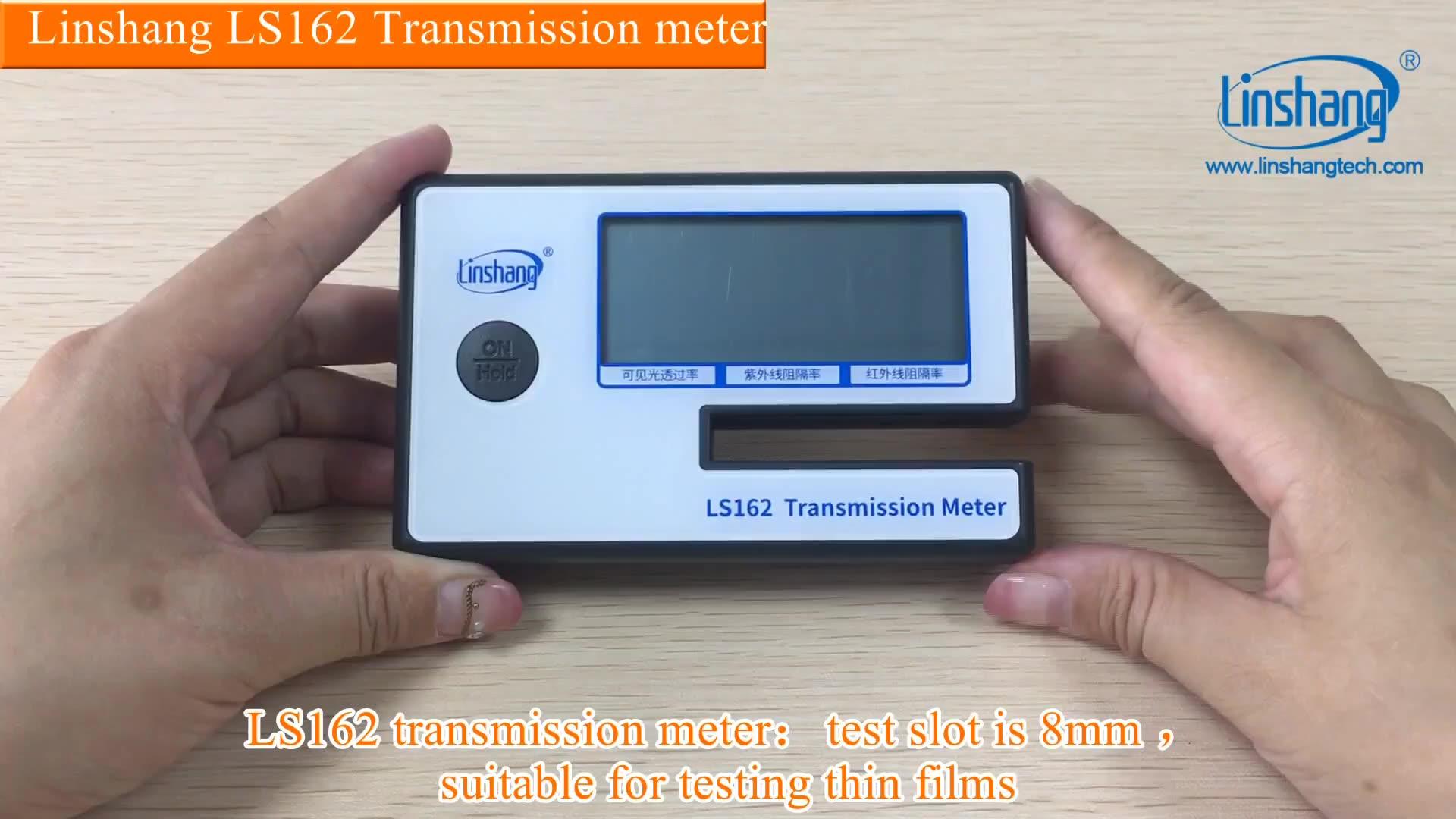 Portable Window Tint Transmission Meter Linshang LS162 Measure IR Rejection UV Blocking Rate Visible Light Transmittance