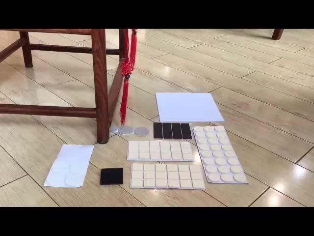 38-Palo desliza combo muebles resistente al calor de lana a granel colchón sillas piano mover los muebles Auto adhesivo de fieltro almohadillas