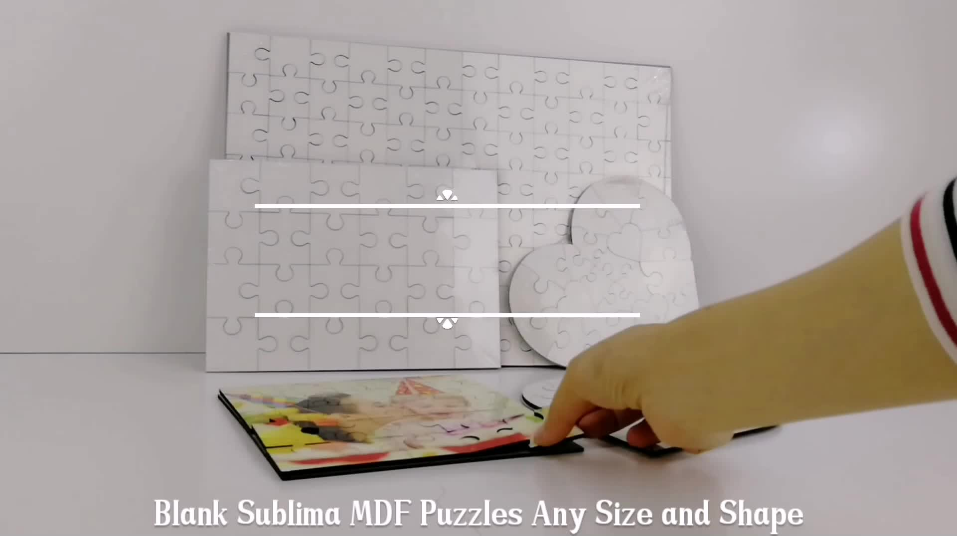 D17cm su ordine all'ingrosso jigsaw puzzle stuoia di esercitazione stampabile Sublimazione bordo