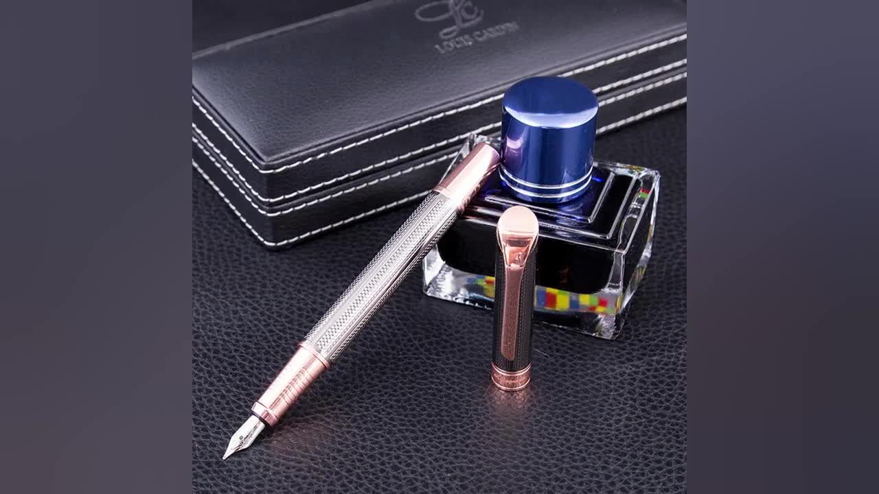 Manufacturing Company Promotional Luxury Birthday Gift metal Fountain Pen Set With Box
