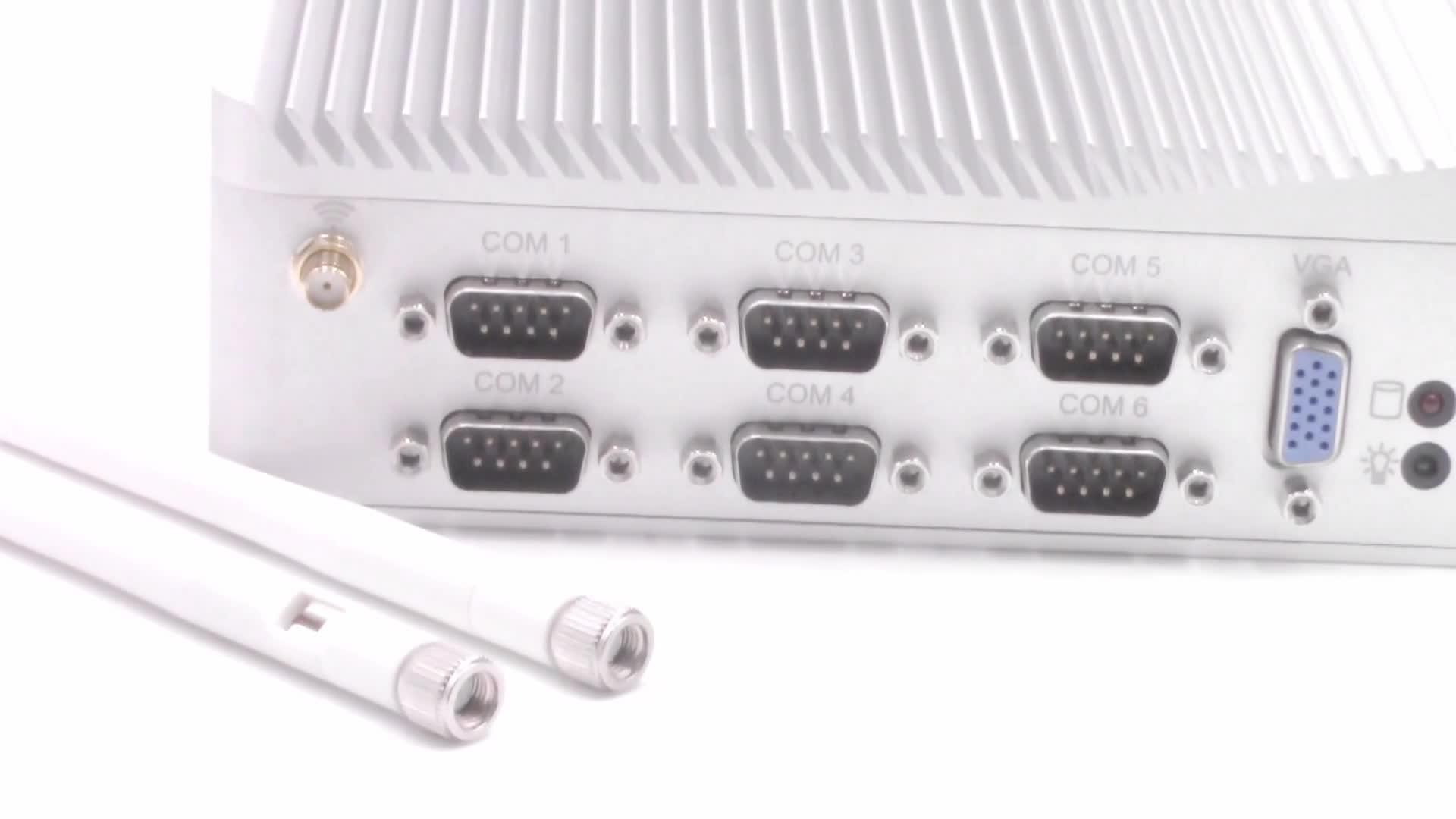 j1900 mini fanless pc with linux ubuntu rs232 rs485 dual lan barebone industrial pc