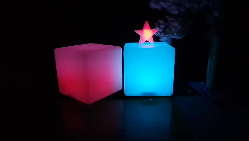 led lights light up luminous LED CUBE chair seat for outdoor event party wedding