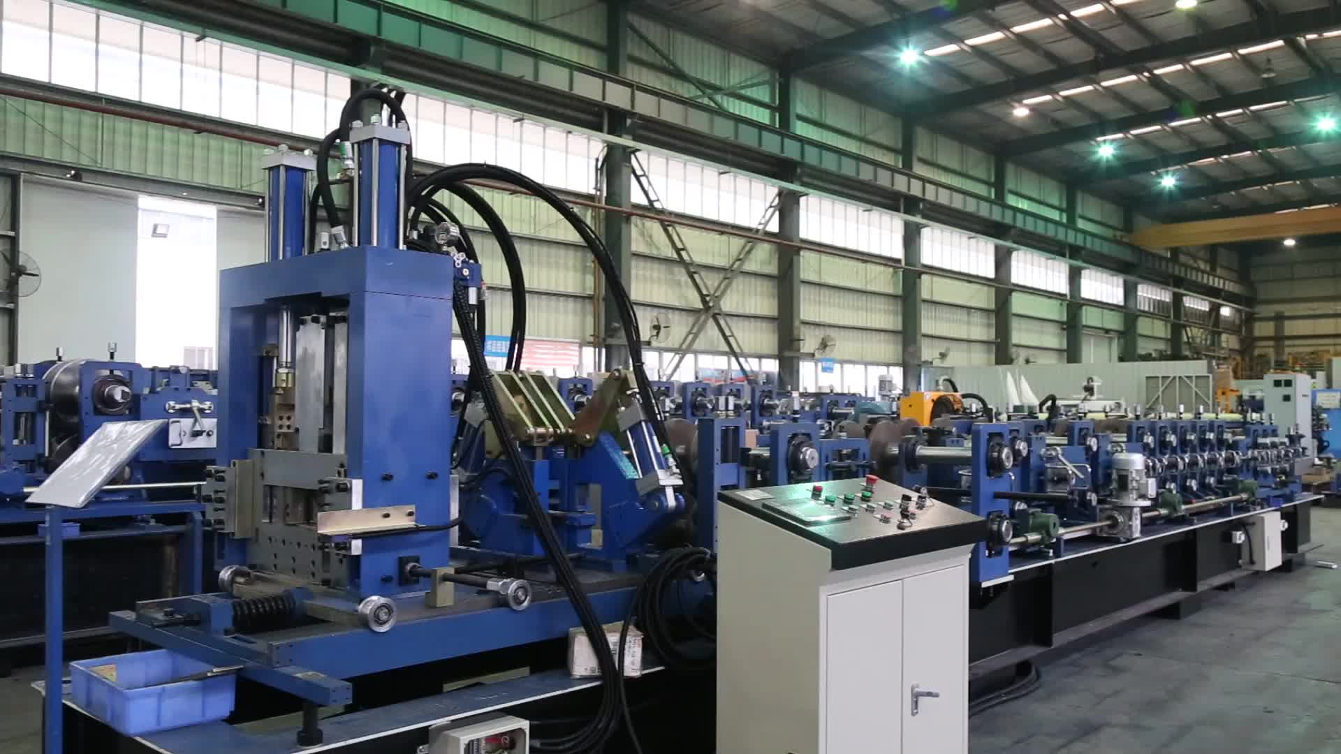 SX10 top selling cheap CZ interchanging multi-size purlin roll forming machine automatic size changing C to Z